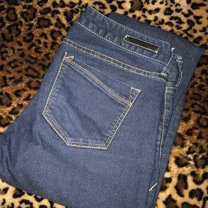 Express dark jean leggings